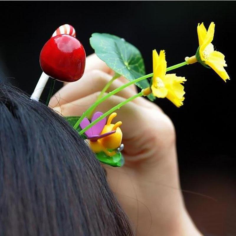 Popular-Halloween-Grass-Hairpins-Weird-Pea-Sprout-Barrettes-For-Girls-Kids-Funny-Headwear-Women-Hair-Accessories